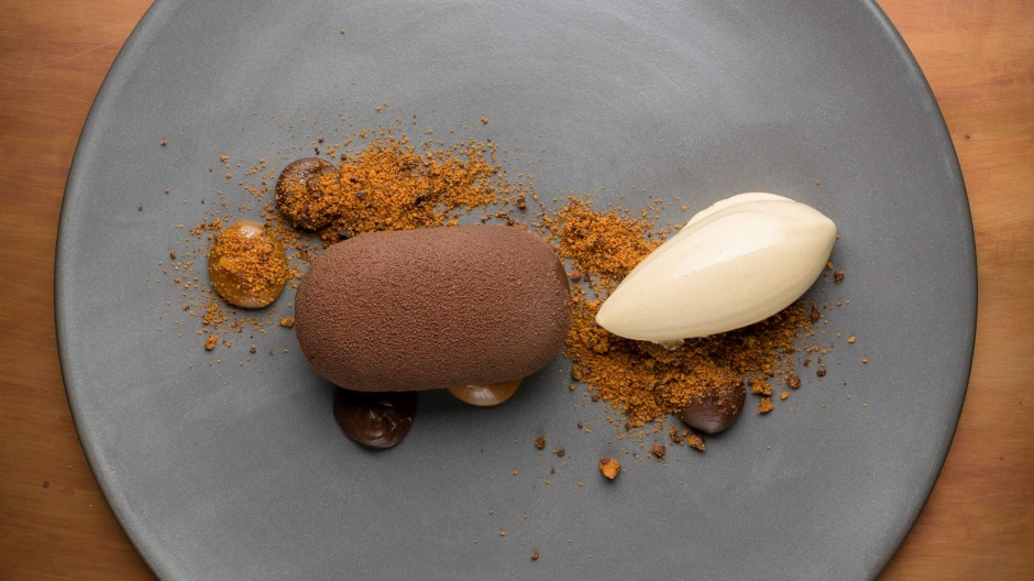 For dessert? Chocolate, dulce de leche and cocoa nibs.