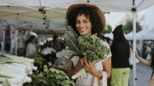 Conventionally grown leafy greens could have a higher risk of pesticide residue.