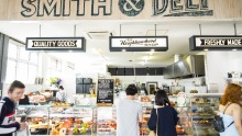 The revamped interior of Smith & Deli in Fitzroy.
