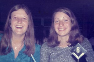 Cathy Danaher and Lynley Walters at Rob's Carousel 1973.