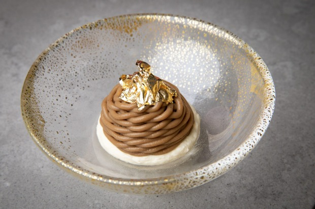New Restaurant of the Year: Joy, Queensland. (Pictured: Mont blanc dessert.)