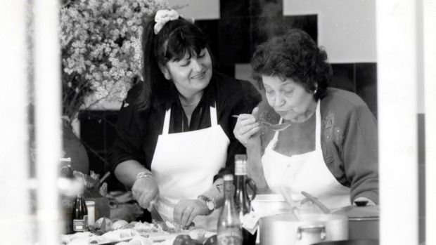 Lake House owner-chef Alla Wolf-Tasker in the kitchen with her mother Katherine in 1993.