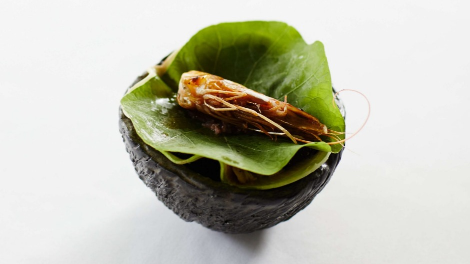 Go-to dish: Prawn and kohlrabi is a stalwart signature that has been upcycled.