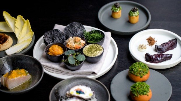 Starter snacks at Bentley Restaurant and Bar, Sydney CBD.