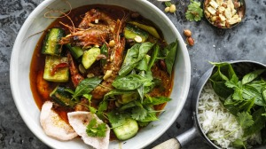 Thai prawn curry in a hurry.
