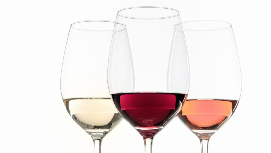 What's the difference? White, red and rosé wines.