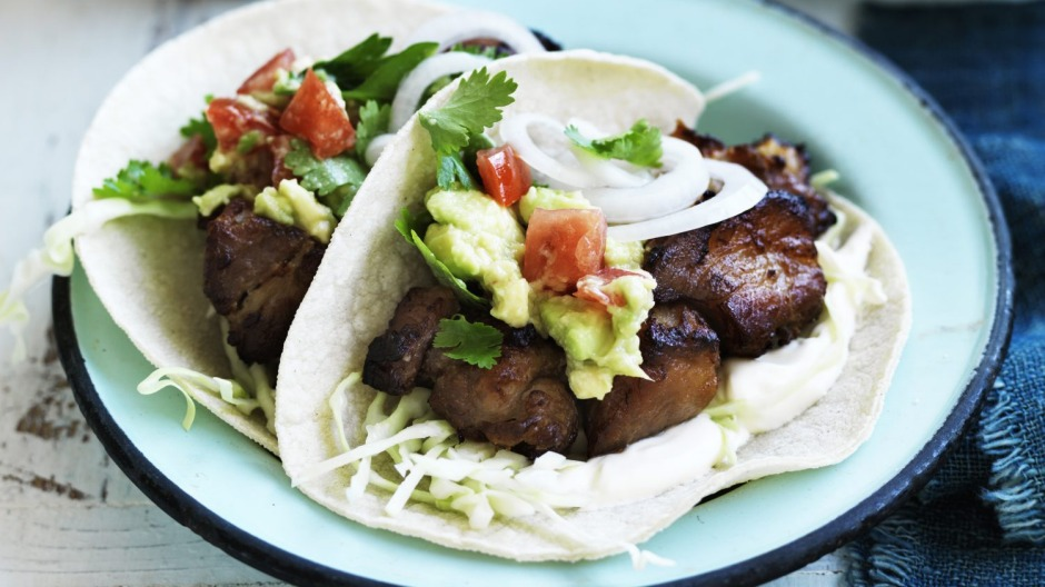 Go-to midnight meal: Tacos, preferably carnitas (braised and roasted pork).
