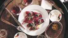 Perfect pairing: A faultless accompaniment to its natural wines is Ahiru Store's bonito carpaccio with pickled green ...