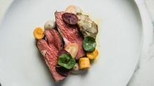 Lamb rump, artichoke, panisse, green olive and anchovy at the newly inspired Bathers' Pavilion in Balmoral.