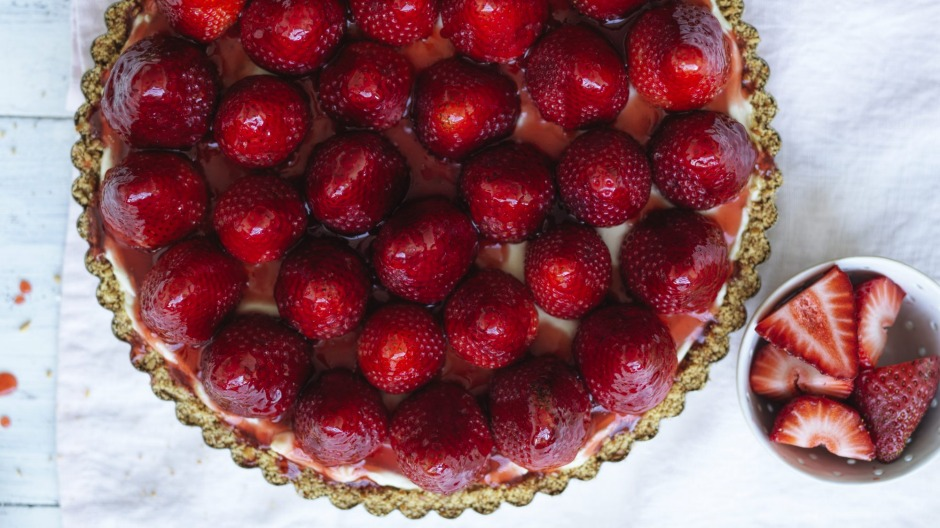 Treat this cheesecake as a blank canvas for nearly any seasonal fruit.