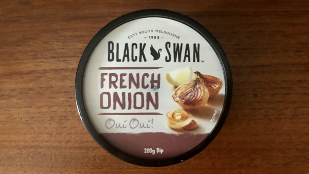 Good Food Dip Taste Test. Black Swan French Onion, 200g.