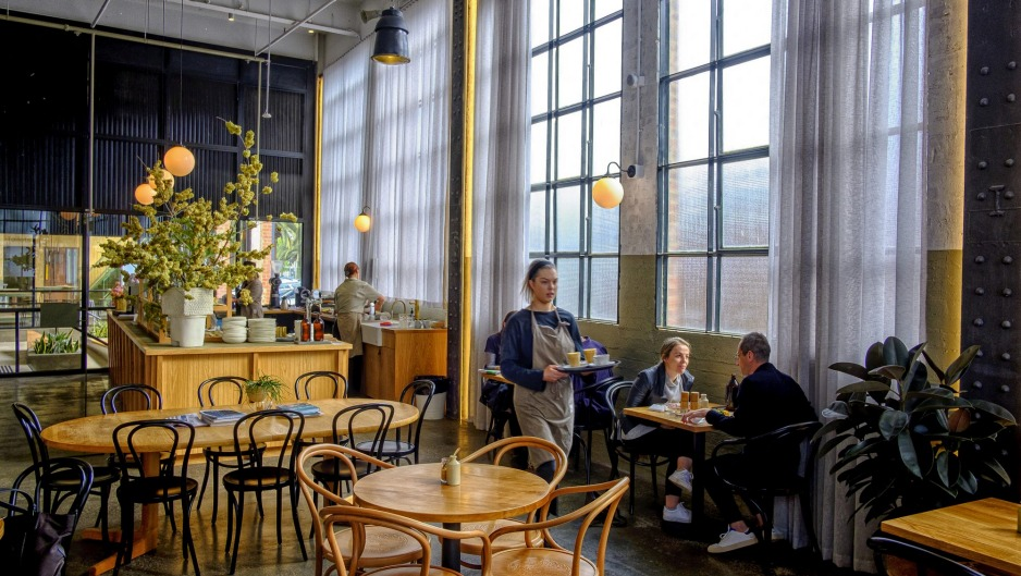 The former Lonely Planet HQ is now the stylish Gathered cafe.