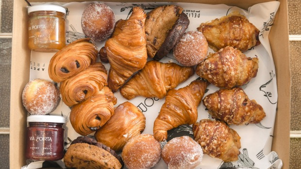 Via Porta bakes its own pastries and supplies them to other cafes.