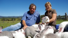 John and Margaret James from Macleay Valley Rabbits in 2010.