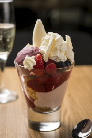 The knickerbocker glory in all its glory.