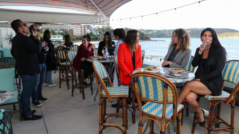 The terrace area at The Bathers Pavilion, Balmoral.