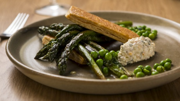 Asparagus with 'egg mayonnaise'.