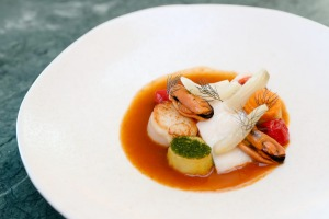Go-to dish: a reimagined bouillabaisse.