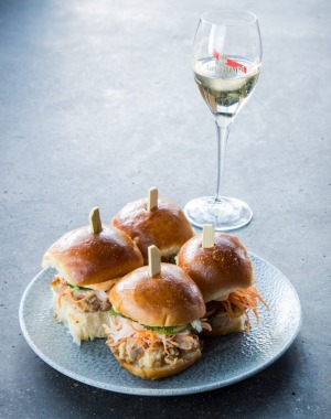 Dan Hong's duck banh mi will be served in the Mumm marquee.