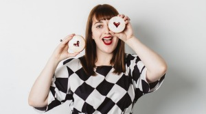 Queen of tarts: Charlotte Ree with shortbread jam tarts from her new book.
