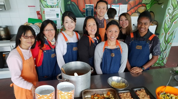 Volunteers from Open Table in North Fitzroy, Melbourne.