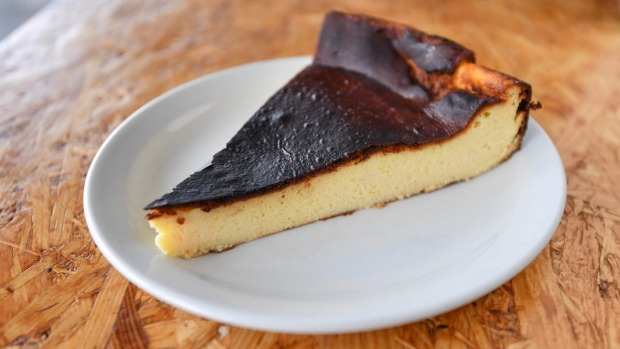 Basque-style baked cheesecake.