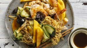 King prawn chicken and mango salad.
