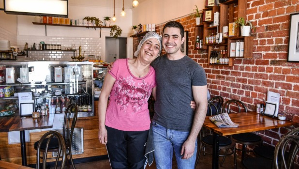 The cafe's mother-and-son team Marcelle Hanna and Sam Dawod.