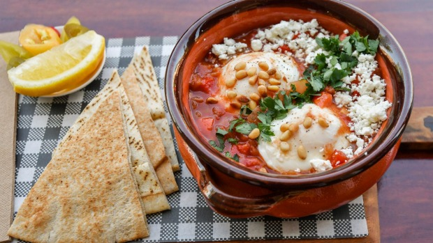 Levanter's shakshuka (baked eggs).