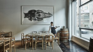 Nomad has moved up the road, complete with the restaurant's signature CJ Hendry artwork.