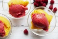 Peach melba slushies.