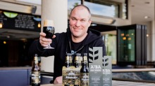 Champion brew: 4 Pines brewer Andrew Tweddell with his schwarzbier.