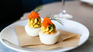 Memorable: Cafe Paci's spicy, buttery, devilled egg with sparkles of trout roe.