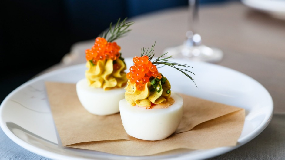 New in the hood: Devilled eggs at Cafe Paci.