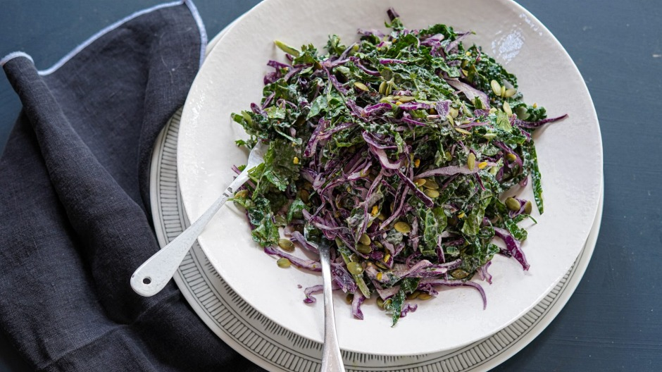 Give your coleslaw a kick with this harissa dressing.