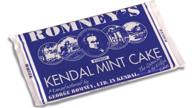 Romney's Kendal Mint Cake - for nibbling not chewing.