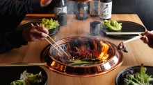Yakiniku barbecue at Gyusha, Chippendale.