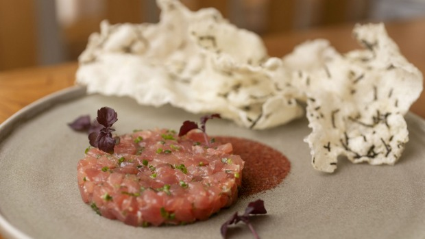 Go-to dish: Tuna tartare with rice crisp.