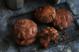 Dan Lepard's date and ginger chocolate chip biscuits.