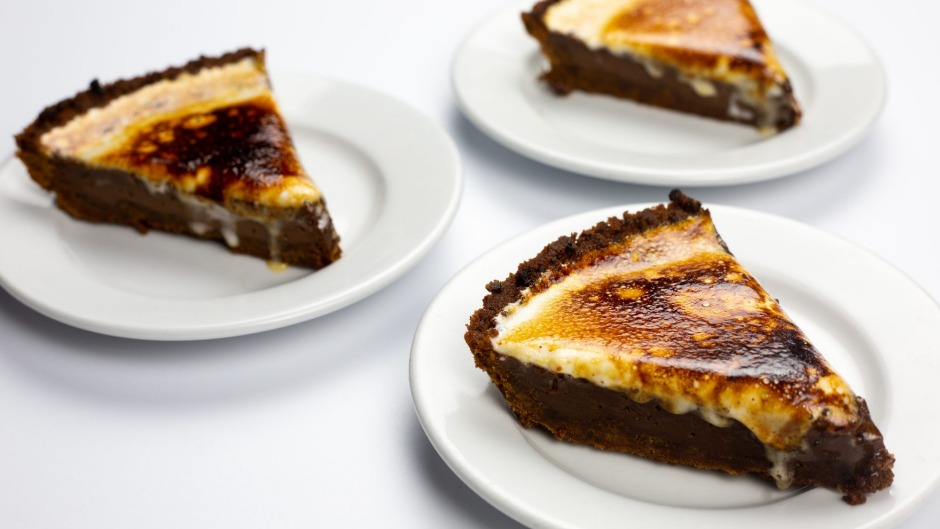 Butter and Scotch's s'more pies, with graham cracker crust, milk chocolate custard and freshly toasted marshmallow topping.