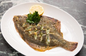 Flounder, simply cooked and served with salad and fries (not pictured).