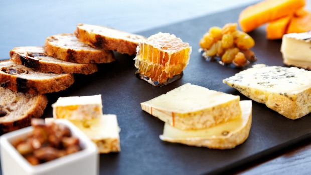 Dripping honeycomb is a newcomer to the cheeseboard.