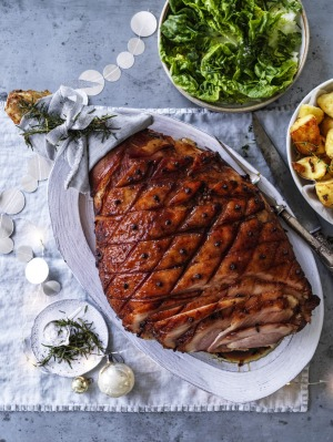 Andrew McConnell's spiced maple and amaro glazed ham.