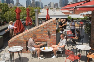 Johnny's rooftop bar is a fun spot for a drink and snacks with friends.
