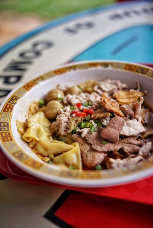 Tai Hwa Pork Noodle is a favourite hawker hangout featuring original recipes from the owner's father.