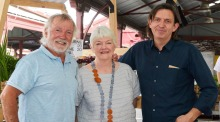 Jacques Reymond and Stephanie Alexander will headline the world's longest lunch, pictured with Andrew McConnell.