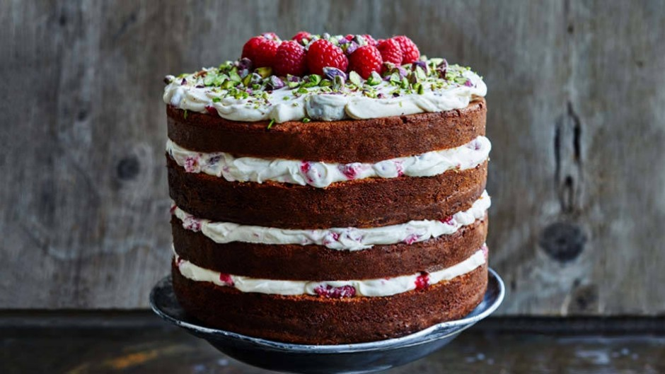 Raspberries and pistachios make a festive colour combination, but you could use any berries or nuts.