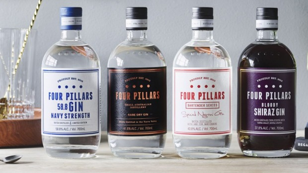 Four Pillars' range of wide-release gins.