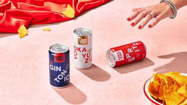 Love Cans, a ready-to-drink collaboration between Strangelove and Poor Tom's distillery.