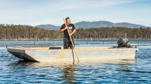 Oyster farmer Shane Buckley is battling the effects of climate change.